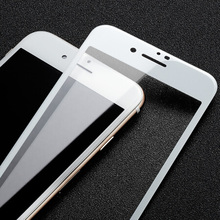 Vetro temperato bianco HD per iPhone 8 Plus