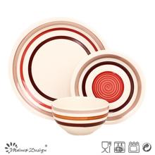 18pcs haute qualité en céramique peint à la main dîner ensemble
