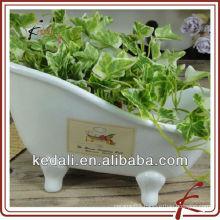 Small Bathtub Shape Ceramic Flower Pots