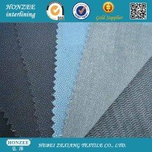 Vestuário não tecido tecido interligado