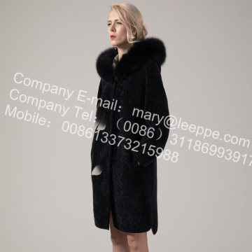 Invierno largo reversible australiano Merino Shearling
