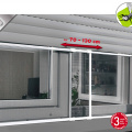 Tela de janela extensível de alumínio