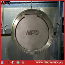Válvula de retenção de aço inoxidável tipo Wafer Single Plate Swing