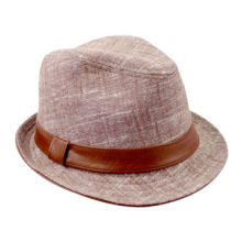 Women's Classic Cotton Twill Fedora Cap with Self Band and Loop Trim