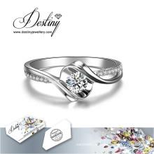 Destino joyería cristal de Swarovski rosa nuevo anillo