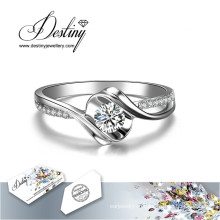 Судьба ювелирные изделия кристалл от Swarovski новое Розовое кольцо