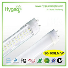 UL SAA TUV DLC FCC CE RoHS tube t8 LED Simple éclairage SMD2835 lampe à tube LED 20w
