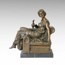 Estatua de la figura clásica Lady Lola Escultura de bronce TPE-130