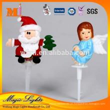 Decoração de bolo de Natal de plástico fofo Papai Noel