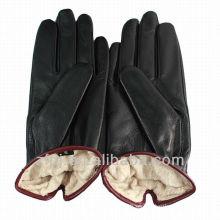 El estilo ruso importó el guante de cuero de la zalea de la primera clase