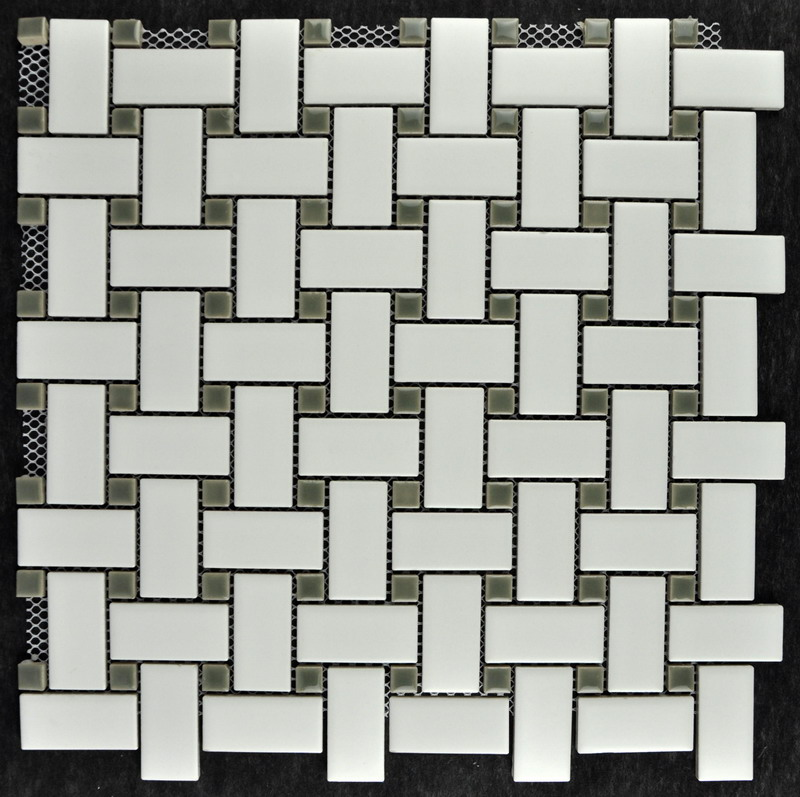 White Weaving Porcelain Mosaic Tile
