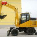 Road Machinery Hydraulic 7 Tonne Wheel Excavator