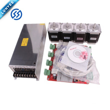 4Axis TB6560 5A Stepper Driver And76MM nema23 motor for router