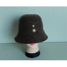 Повседневные вязаные шапки Кепка-ведро из 100% шерсти