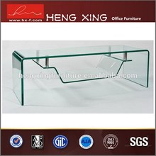 Rectangular adjustale height clear plastic coffee tables and chairs