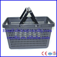 Supermarket New PP Shopping Basket with Handle