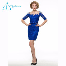 Bout d'arc en satin à laine Sexy Blue Mother Of The Bride Dresses