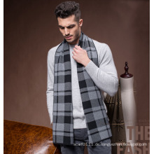 Men Fashion Winter Wolle Polyester Nylon Acryl gestrickte Schal (YKY4601)