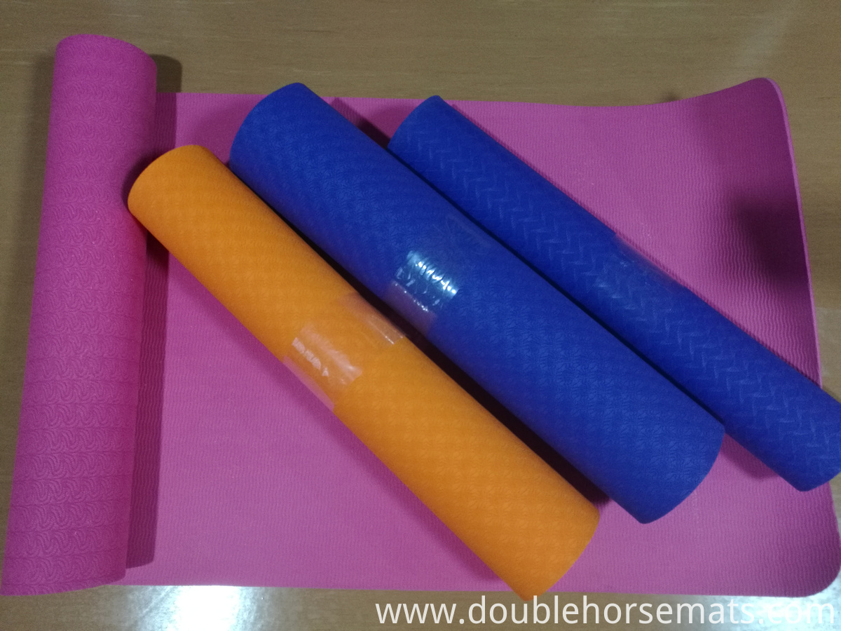 TPE single color yoga mat
