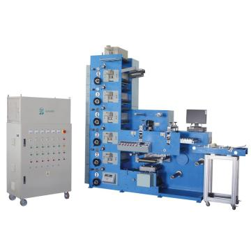 6 COLORS UV FLEXO PRINTING MACHINE WITH DOUBLE ROTARY DIE CUTTING