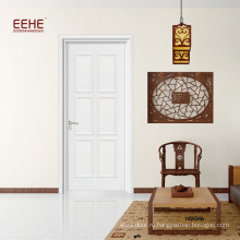 Заводская гостиная деревянная флеш дверь белого цвета