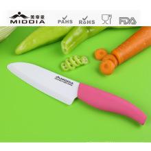 Couteau utilitaire en céramique de 5,5 po à poignée rose