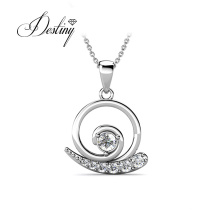 Gold Plated Cartoon Jewelry Little Snail Pendant Necklace for Girl