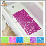 Bathroom anti slip pvc bath mat in pebble design
