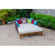 FLORES COLLECTION - Style de luxe chaud Poly PE Rattan Sun Rocks Outdoor Garden Furniture