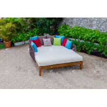 FLORES COLLECTION - Hot luxury style Poly PE Rattan Sun Loungers Outdoor Garden Furniture