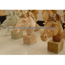 Carving Stone Marble Horse Animal Sculpture for Garden Statue (SY-B161)