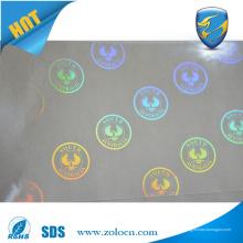 Autocollant 3d hologramme de sécurité transparent