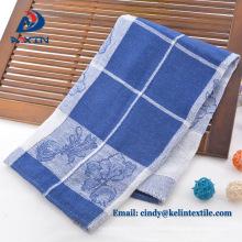 100% algodão jacquard tecer toalha de chá para bordar
