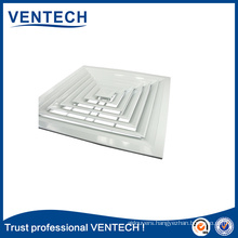 Air Conditioning Ceiling Diffusers Aluminum Square Air Vent Air Grille