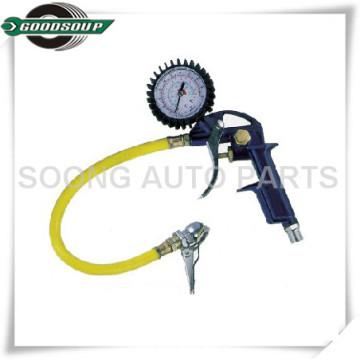 Inflador multiuso Dial Air, inflador de neumáticos, indicador de inflado de neumáticos, inflador de neumáticos Pistola con manguera flexible