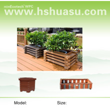 Anti-Crack Termite-Free Plant Box vert WPC jardin boîte à fleurs plante pot