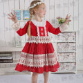 JannyBB design red lace boutique Christmas dress