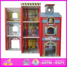 2014 Fashion New Holz Puppenhaus Modell Spielzeug, Großhandel DIY Holz Puppenhaus Spielzeug, 3D Bunte Baby Holz Puppenhaus Set Fabrik W06A049