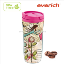 Clear Drinkware Papiereinsatz Kunststoff Doppelwand Promotion Becher