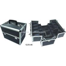 Mallette aluminium solide avec 4 plateaux en plastique & compartiments réglables sur le fabricant de module