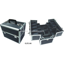 strong aluminum tool case with 4 plastic trays&adjustable compartments on the case bottom manufacturer