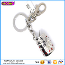 Factory Price Bottle Charm Silver Pendant Keychain Hot Sale