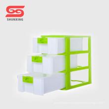 Contenedor de almacenamiento plástico del cajón del gabinete de la mesa de 3 capas para el hogar