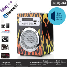 Professional wooden Bluetooth wireless portable perforated metal mesh speaker grille
