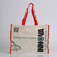 saco de algodão com sacola de sacola de compras