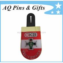 Impresión Cmyk Lapel Pin insignia en epoxi para Logo emblema (badge-081)