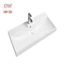lavabo rectangular de una pieza de superficie sólida