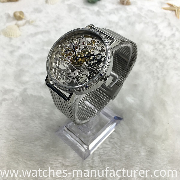 Skeleton designed mechanical watch