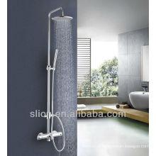 Conjunto de chuveiro de bronze montado na parede Misturador de banho termostático