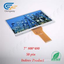 7 pulgadas de resolución 800 * 480 50 Pin TFT LCD de pantalla